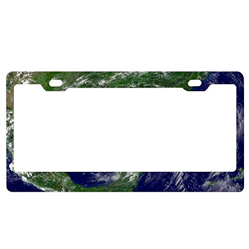 - YEX Abstract Hurricane Katrina License Plate Frame Car License Plate Covers Auto Tag Holder 6