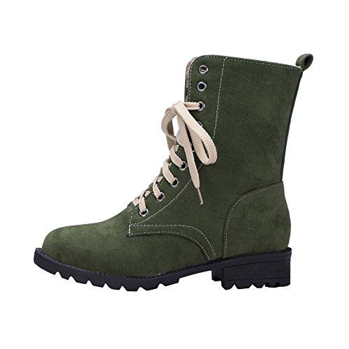 Ankle Boots Da Combattimento Militare Con Lacci Eclimb Verde