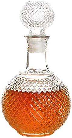 GAOXIAOMEI Decantador De Whisky Earth - con Tapón Botella De Vidrio De Whisky - para Licor, Whisky, Bourbon, Decantador De Licor De Vodka - Regalos Decoración De Oficina para Hombres