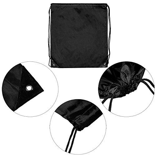 Cinch Travel Tote Keriber Bag Bag Sack 9 Drawstring Bags Sport 9 Colors Pieces or Storage Gym Gym for Backpack Black ZW8nBZq