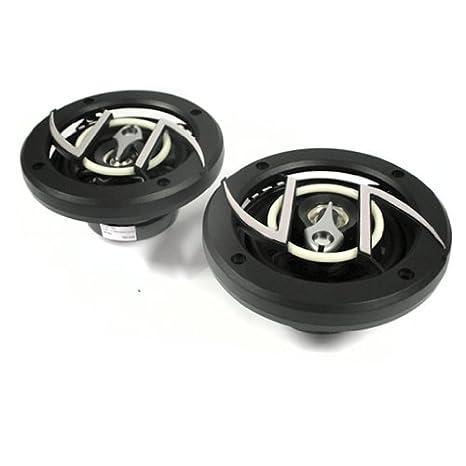 Amplificador 4 Canales 2800W, 4X Altavoz 6.5 800W, Set Cables Auna Black Line 400 Equipo de Sonido HiFi para Coche