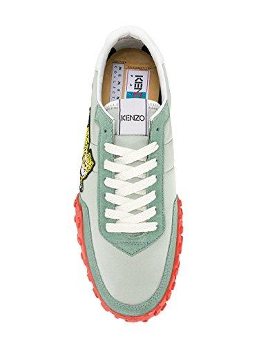 Kenzo Mens F765sn122f9258 Sneakers In Pelle Verde