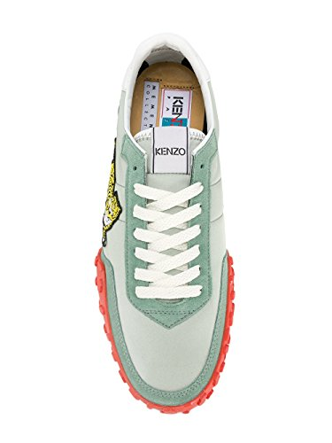 Kenzo Sneakers Uomo F765sn122f9258 Pelle Verde