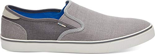 Toms Shoes Size Chart (TOMS Men's Baja Drizzle Heritage Canvas Slip on Shoe (11 M US, Drizzle Grey/Shade Heritage)