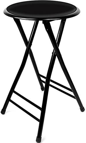 KegWorks 24 Inch Cushioned Folding Stool – Trademark Home Collection