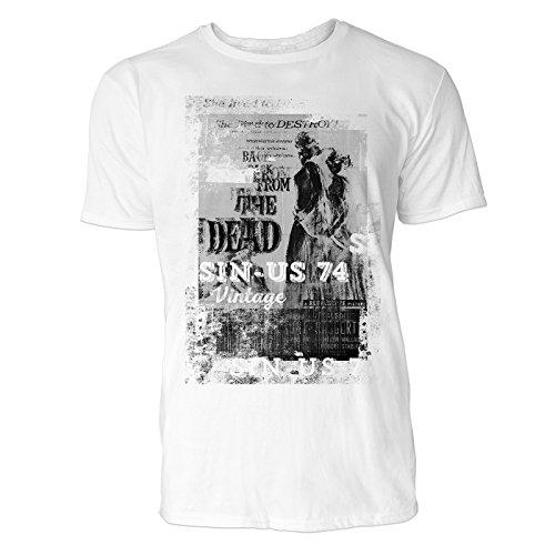 SINUS ART® Back from the Dead Herren T-Shirts stilvolles weißes Fun Shirt mit tollen Aufdruck
