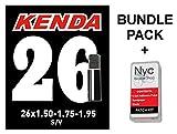 #10: Kenda Bicycle Inner Tube 26 inch X 1.50-1.75-1.95 Schrader Valve Bundle Self Adhesive Patch Kit