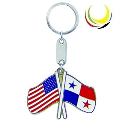 Keychain USA-PANAMA FLAGS