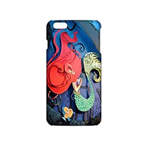 Angl 3D Case Cover Cartoon Cute Little Mermaid Phone Case for iPhone6