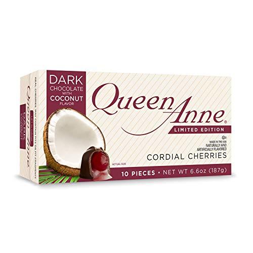 Queen Anne Cordial Cherries (Dark Chocolate Coconut, 2-Pack) (Dark Cherries Chocolate)