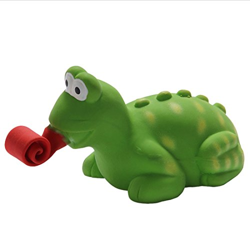 Dog Chew Toys Safe Durable Natural Latex Funny Dog Squeaky Toy for Cleaning Teeth and Playing (Lizard)