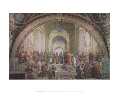 - The School of Athens, c.1511 by Raphael - 14x11 Inches - Art Print Poster
