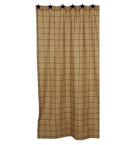 Image Unavailable Not Available For Color Burlap Check Shower Curtain