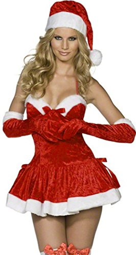 Black Friday PEGGYNCO Black Friday Naughty Miss Santa Costume