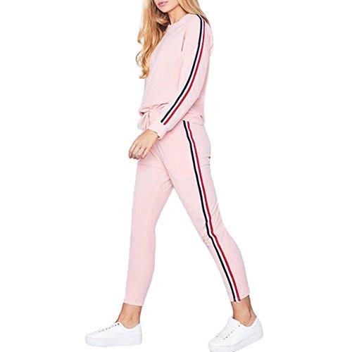 (LandFox Pants Sets Sport Wear Casual Suit,Women Blouse Tracksuit Hoodies Sweatshirt Top)