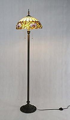 Fixture Displays Tiffany Style Elegant Floor Lamp 16-Inch Shade 15718!