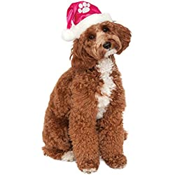 Rubie's Costume Co Pink Santa Hat Pet Costume, Medium/Large