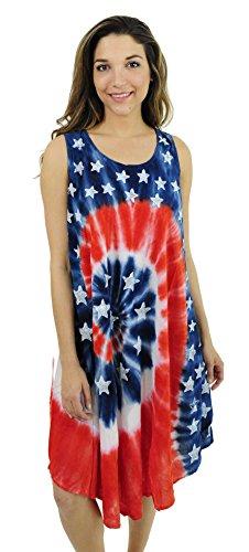 21624-1X Riviera Sun American Flag Dress / USA Summer Dresses - Womens Flag Dress