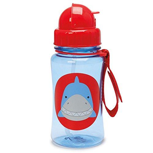 Skip Hop Zoo Straw Bottle, Holds 12 oz, Snazzy Shark (Bottle Baby Hop Skip)