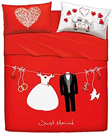 Acquisto Lenzuola Matrimoniali.Bassetti Set Lenzuola Matrimoniali Love Is A Couple Amazon It