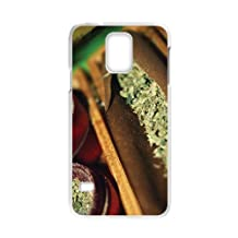 Generic Cell Phone Case For Samsung Galaxy S5 Case Country American Flag Marijuana Cannabis Weed Hemp Leaf Smoker Design Custom made Hard Plastic Protective shell