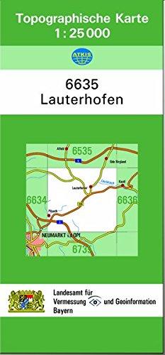 TK25 6635 Lauterhofen: Topographische Karte 1:25000 (TK25 Topographische Karte 1:25000 Bayern)