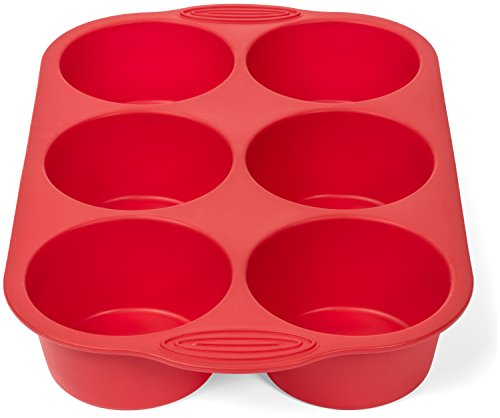 Elite Bakewaretm 5 Piece Nonstick Silicone Muffin Pan And
