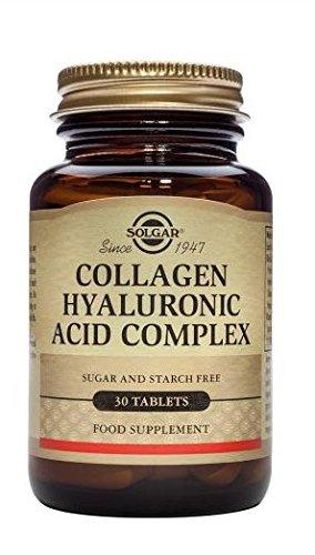 Solgar Nuevo Complejo de ácido hialurónico Colágeno - 30 Tabletas - Piel estado y recuperación -