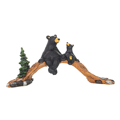 DEMDACO The Bridge Black Bear 4 x 11 Hand-cast Resin Figurine Sculpture