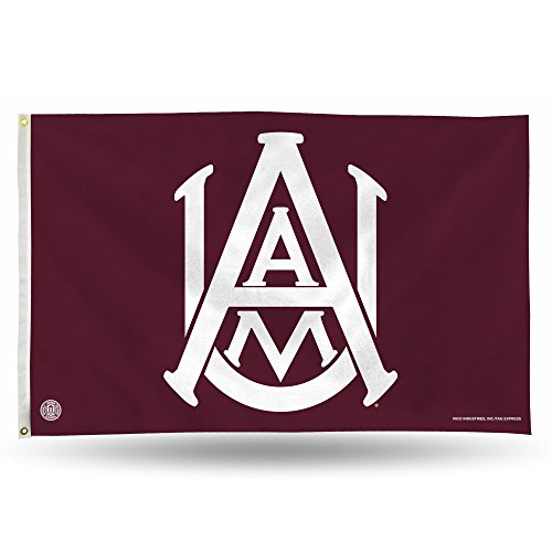 Rico Industries NCAA Alabama A&M Bulldogs 3-Foot by 5-Foot Single Sided Banner Flag with Grommets (Watch Sport Bulldogs)