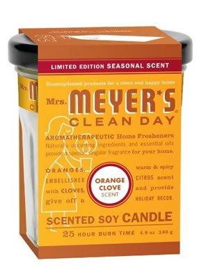 Mrs. Meyer'S Soy Candle Orange Clove 4.9 Oz Case_6
