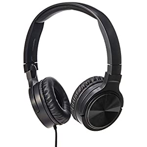 AmazonBasics Lightweight On-Ear Headphones – Green