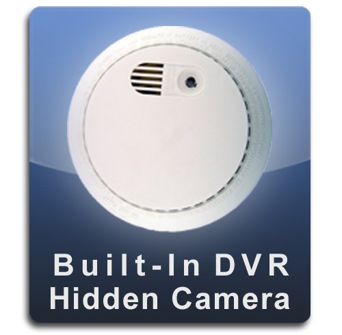 - PalmVID DVR PRO Smoke Detector Hidden Camera Spy Camera with Adjustable View