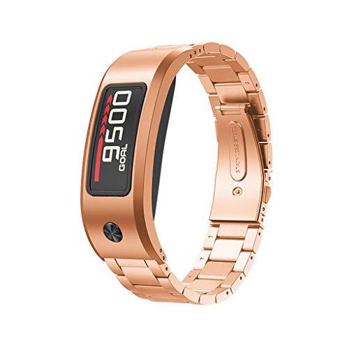 Lyperkin Garmin Vivofit 2 Band - Premium Fashion Luxury Stainless Steel Watch Band Strap Bracelet Wristband Replacement Strap Watchband Compatible with Garmin Garmin Vivofit 2.
