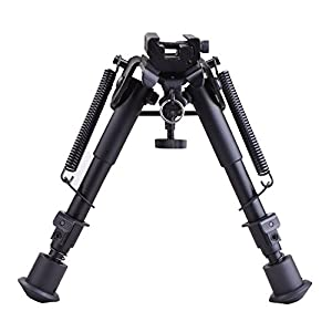 CVLIFE 6- 9 Inches Tactical Rifle Bipod Adjustable Spring Return with Adapter