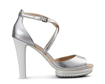 878ed40365fa Hogan Damen Pumps Silber silber schwarz 30, Silber 31,5  Amazon.de ...