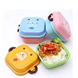 Ouken Mini Lunch Box Child Microwave Cartoon Food Container Lunch Bento Boxes School Lunch Boxes for Kids Plastic Bento Box