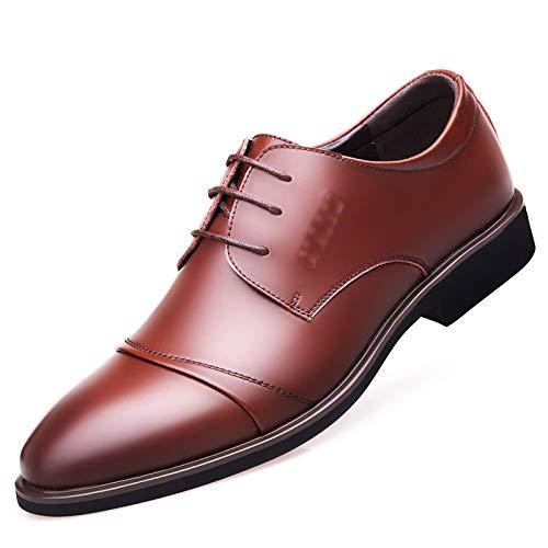 WFL Scarpe da uomo in pelle estiva da uomo a punta scarpe da lavoro giovani casual da uomo traspiranti Giallo