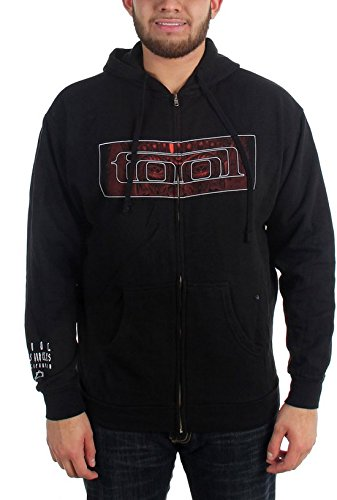 Zip Hoodie: Tool- Red 10,000 Days Face (Front/Back) Size S ()