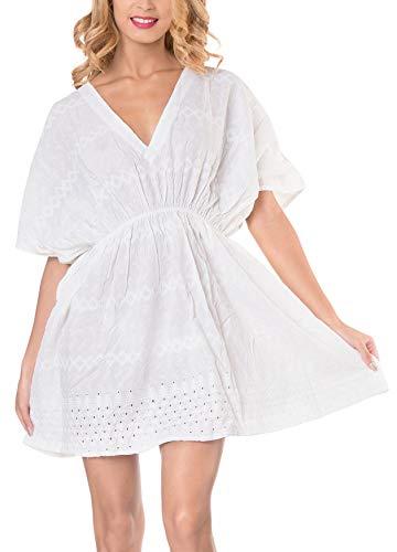 LA LEELA Frauen Strand Bikini Rayon einfache Feste Abdeckung nach Oben 4013