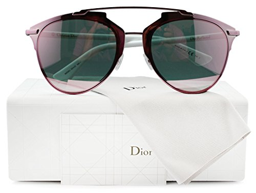 Christian Dior Reflected/S Sunglasses Pink White w/Rose Gold Mirror (0M2Q) M2Q 0J 52mm Authentic + Cleaning Care-Kit