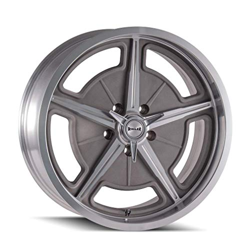 RIDLER 605 Wheel with MACHINED SPOKES & LIP (20 x 10. inches /5 x 120 mm, 0 mm Offset