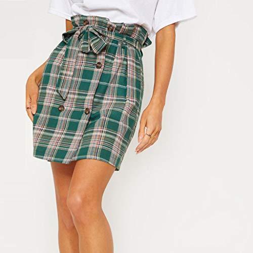 Sexy Womens Fashion Leisure Sport Mini Skirt Plaid Tie Slim Sexy Skirt by VEZAD (Image #1)