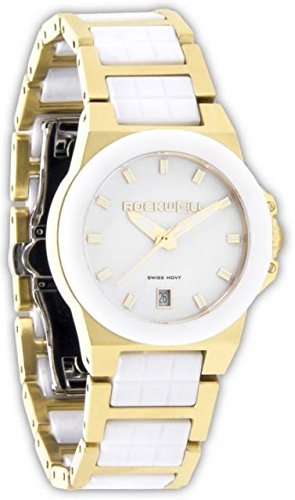 Rockwell Time Women's Katelynn Watch, Gold/White Ceramic by Rockwell Time