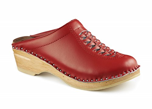 Troentorp Womens Wright Original Sole Clogs Red 37 jTLJZqrQIM