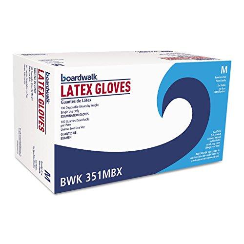 Boardwalk 351MCT Powder-Free Latex Exam Gloves Medium Natural 4 4/5 mil 1000/Carton