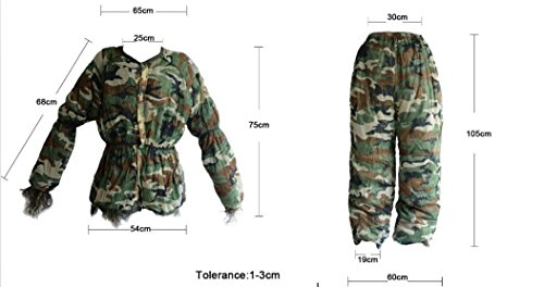 Ghillie Suit, LOOGU Camo Suit Woodland and Forest Design Military Leaf Hunting and Shooting Accessories Tactical Camouflage Clothing Blind for Airsoft, Wildlife Photography Halloween or Party by Ghillie Suits (Image #2)