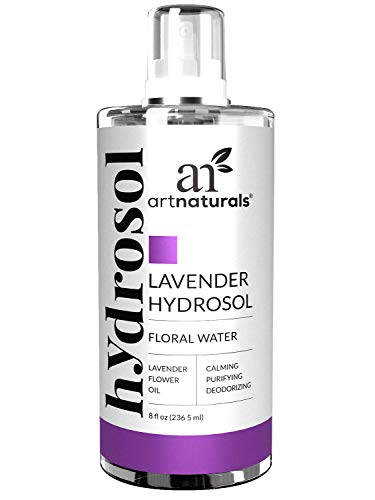 ArtNaturals Lavender Water Facial Spray - (8 Fl Oz/236ml) - Essential Oil Hydrosol - Air Freshener, Pillow Mist and Deodorant - All Skin and Body Types