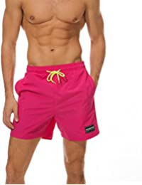 Mens Quick Dry Workout Running Shorts Mesh Liner with Drawstring Pockets
