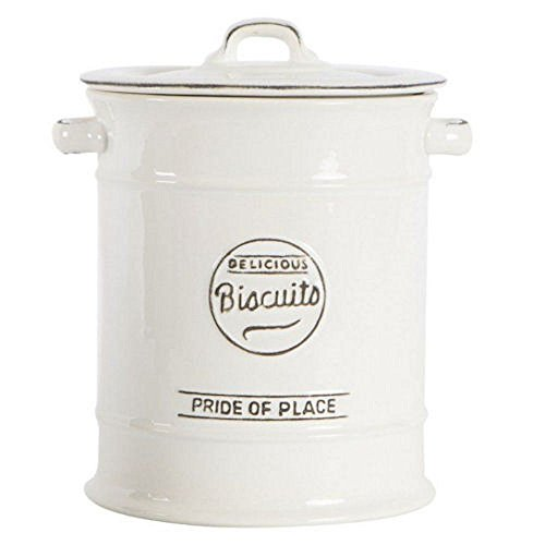 T&G Woodware Pride of Place Ceramic Biscuit Jar in White
